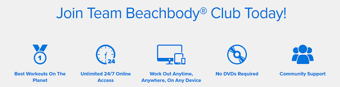 Join the Beachbody Club