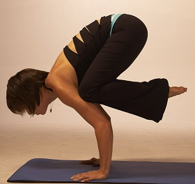 yoga crow pose